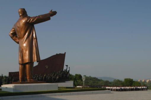 Le grand monument de Mansoudai, inaugure en 1972 a l'occasion du 60 eme anniversaire du President Kim Il Sung.