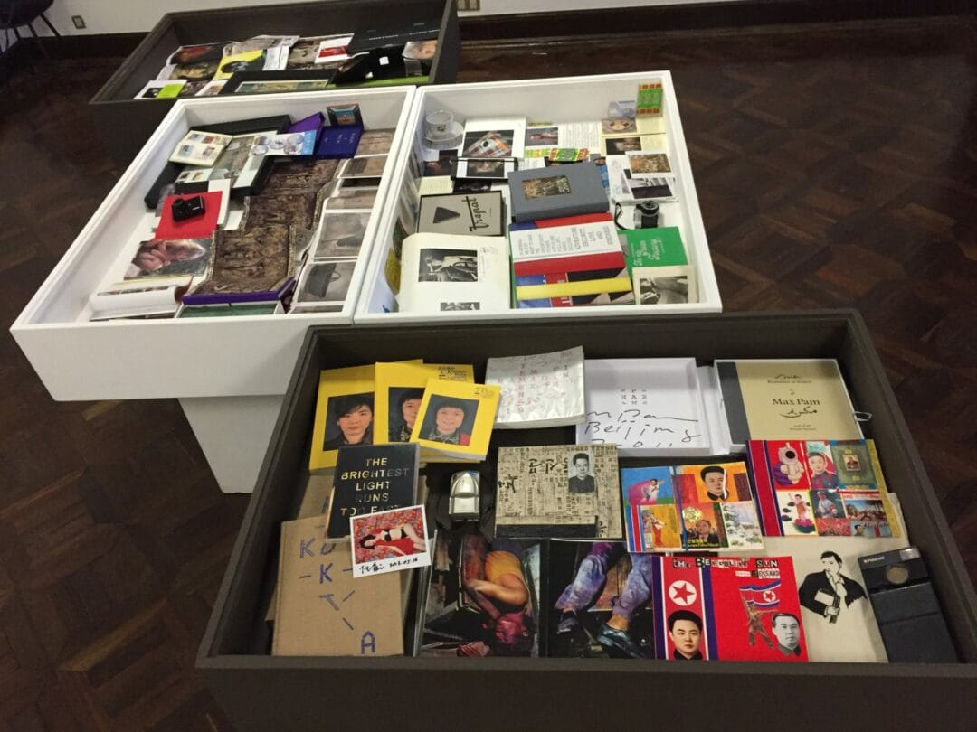 1 of the 5 Cabinets of curiosity of the Éditions Bessard's collection at the Braga Museum during the Photo festival