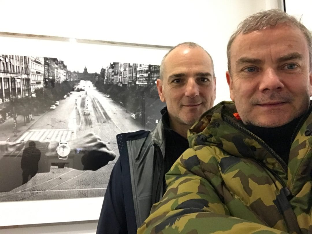 Selfie this afternoon with my old friend Stefano de Luigi, a book on printing «Idyssey» to come soon, exhibition  KOUDELKA Centre Pompidou – Galerie de photographies  19 Rue Beaubourg, 75004 Paris