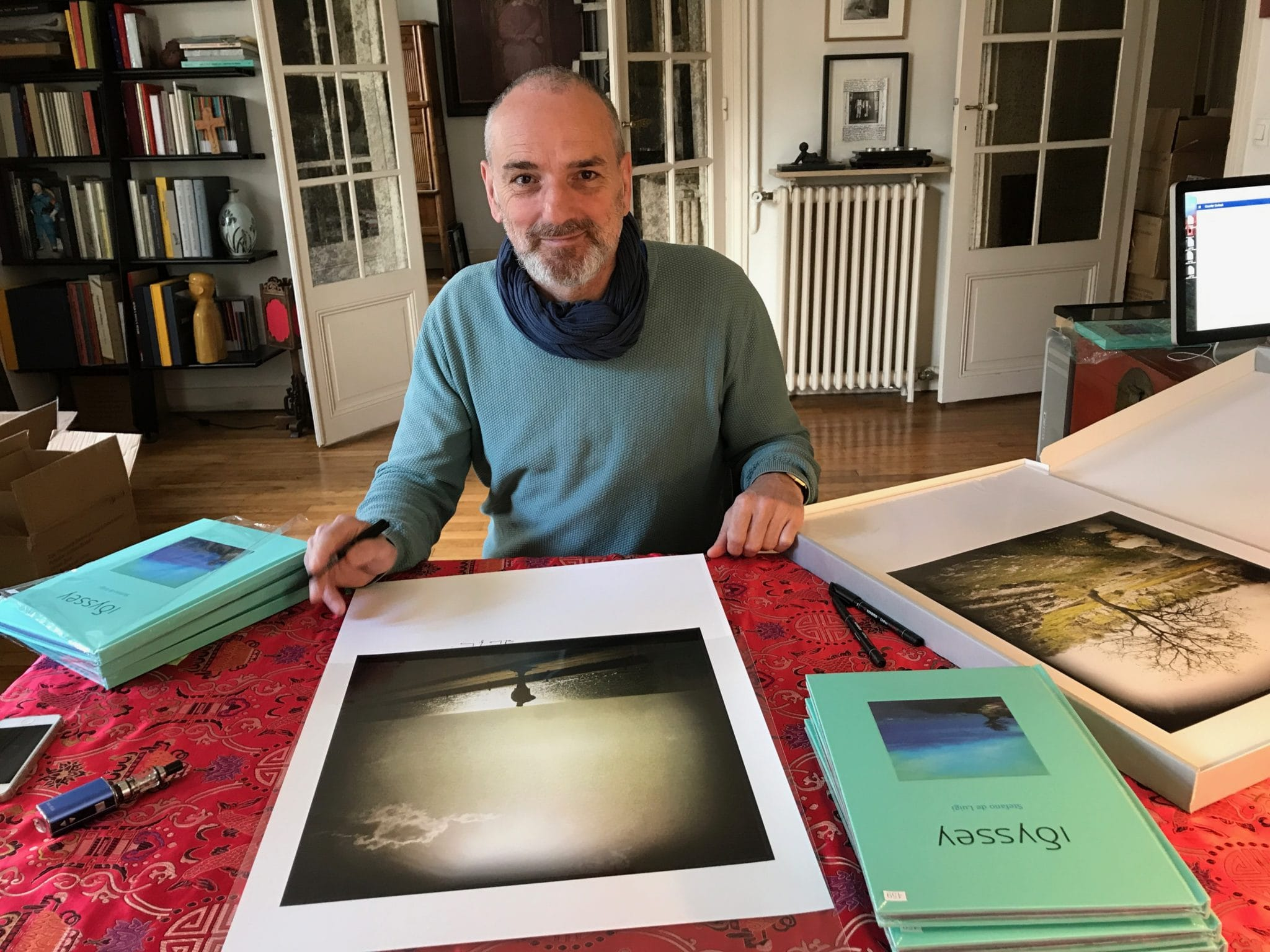 Idyssey by Stefano de Luigi, just arrived this morning, happy publisher, limited edition of 500 copies, signed c print and more… at home this morning