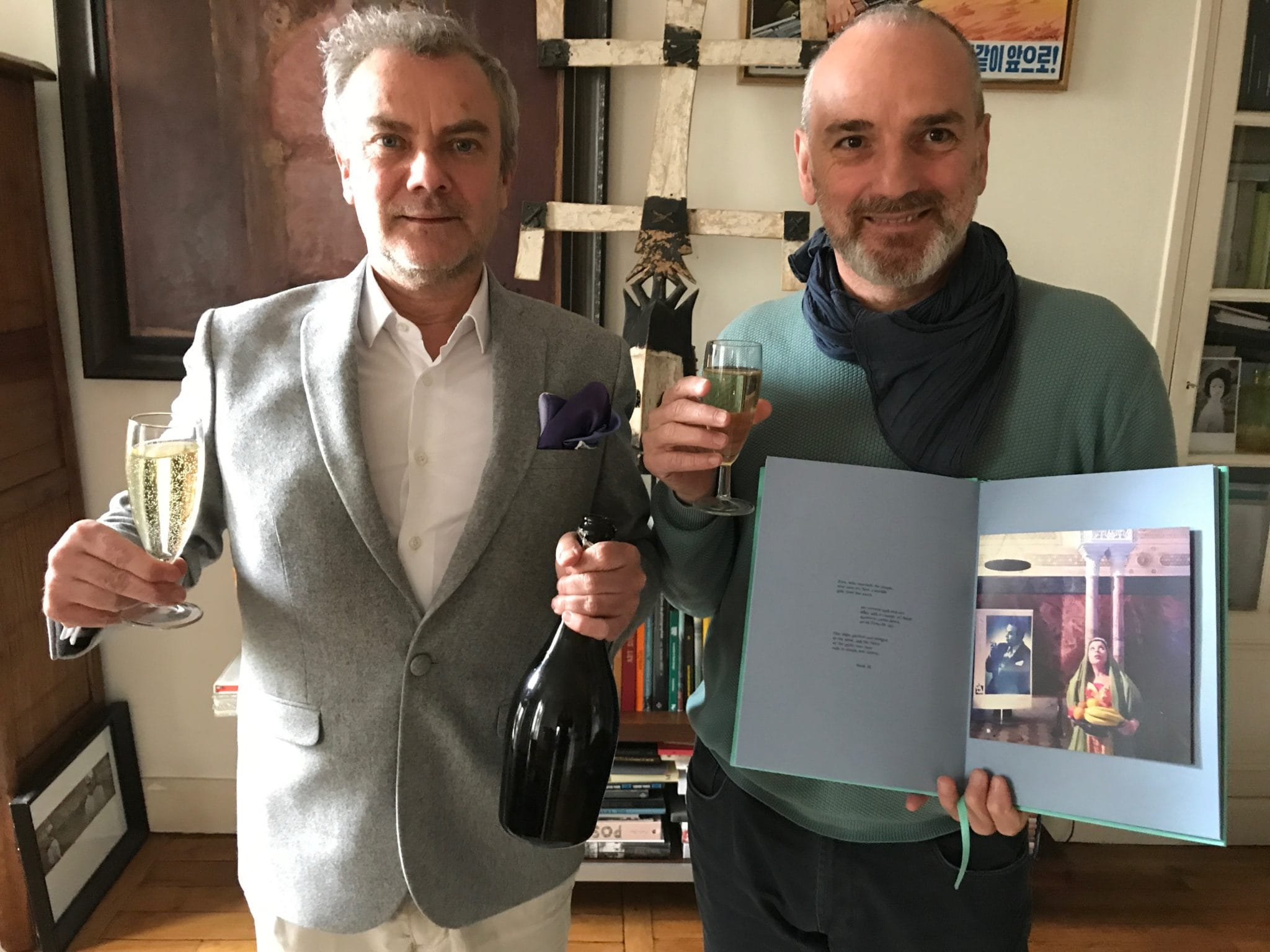 Celebrating the arrival of the new book iDyssey with the artist Stéfano De Luigi, French bubbles Happy publisher…