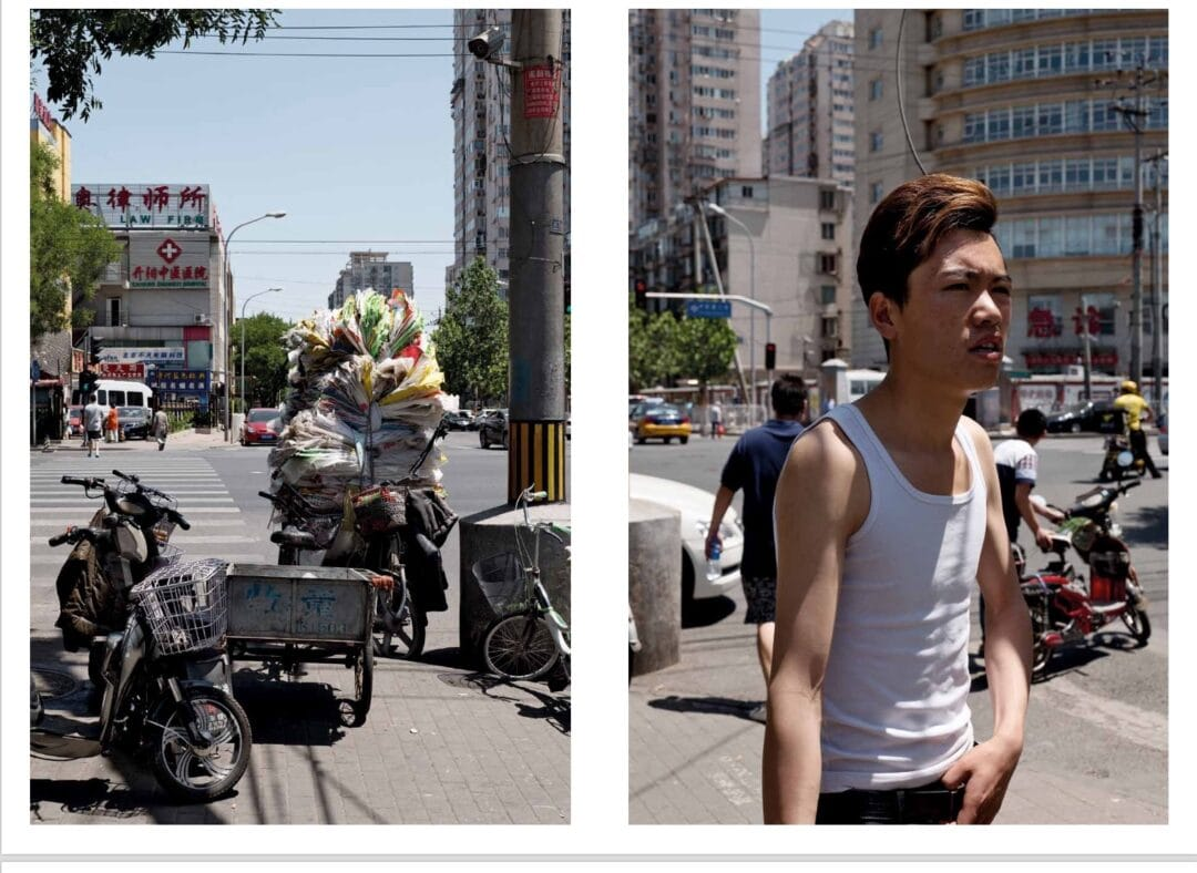 Guy Tillim's Edit Beijing is a series of diptychs and triptychs shot on the streets of Beijing during a residency organised by the Parisian publisher, Editions Bessard. It has been nominated for the Kassel Photobook Award 2017.  Published by Editions Bessard | 2017 Hardcover, 66 pages including 2 foldouts | ISBN 979-10-91406-49-9  Edition of 500