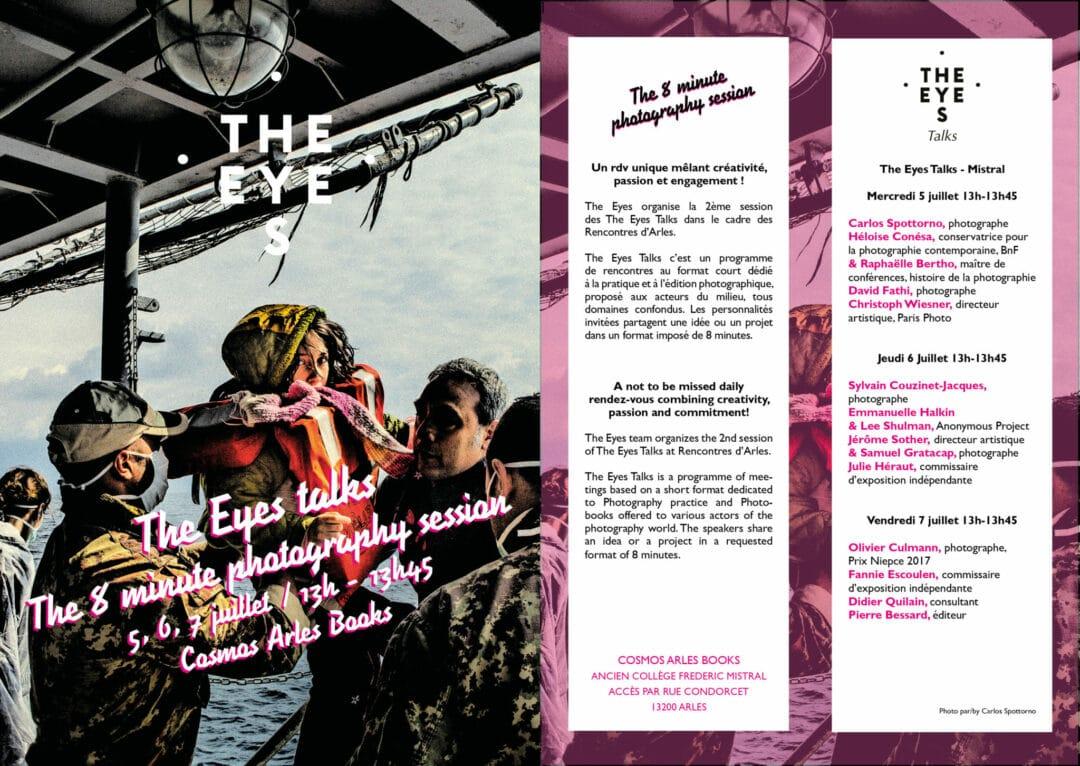Hello Gang, je serais en Arles à partir de dimanche, Place Voltaire au Parti Communiste Français, lundi et mardi matin lecture de Portfolio pour les Rencontres d'Arles et vendredi 7 juillet 12h-13h45 Talks the Eyes «The 8 minute photography session «