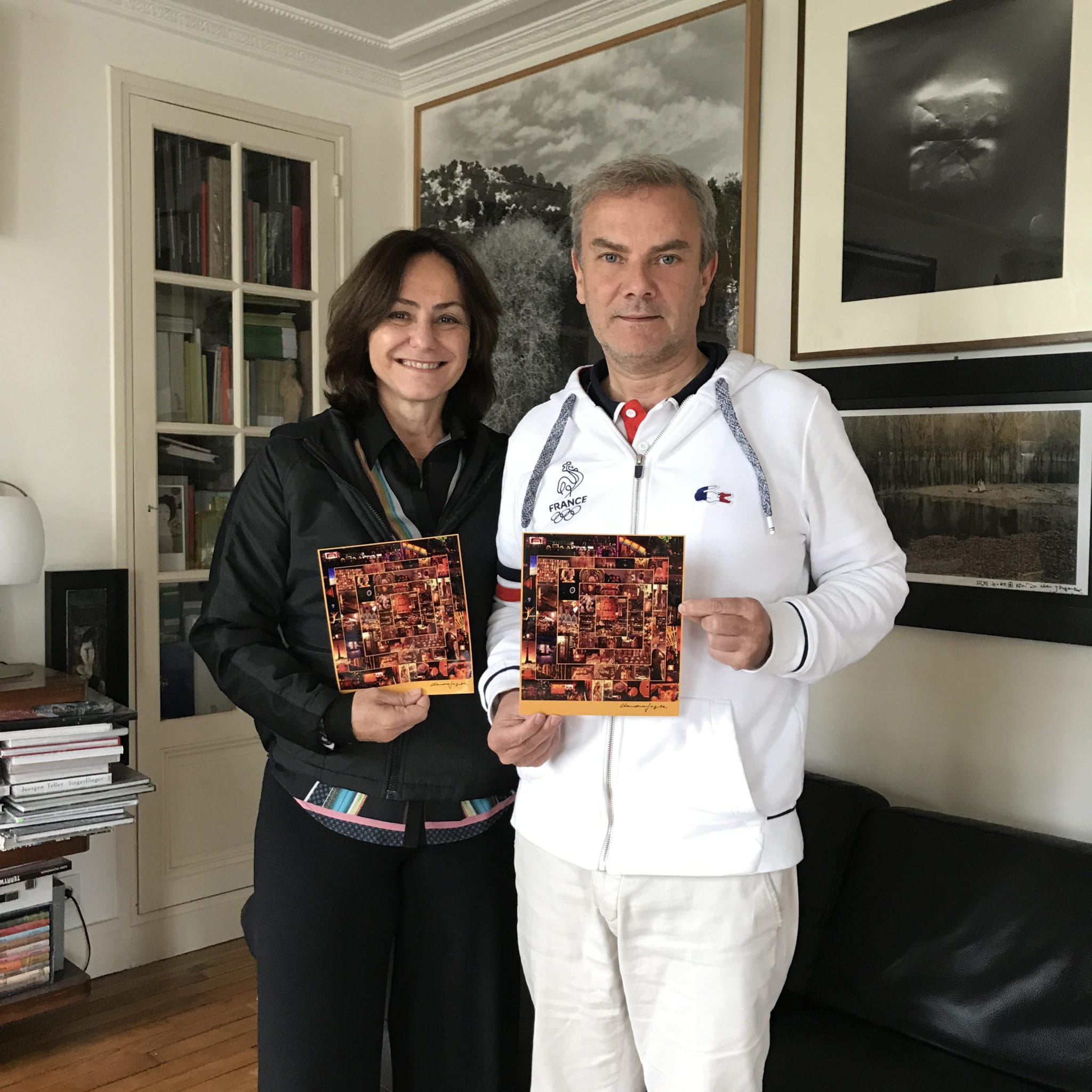 Claudia Jaguaribe, Brazilian artist, after signed his pictures for the next projet photobook «Beijing Overshoot», at home, ready to print. a magic book about pollution and environment … Limited edition of 500 copies with this signed c print. An artist Edition of 30 copies is available too…