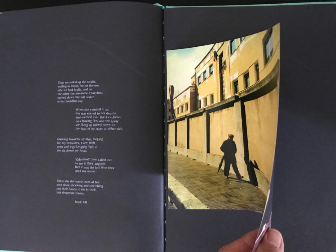 #Idssey by Stefano De Luigi a limited edition of 500 copies numbered by the artist, include a signed c print. A double page of the photobook, fantastic design, text by Laura Serani.  Editions Bessard available on our website Now! here the link: https://editionsbessard.com/product/idyssey-limited-edition-of-500-copies-signed-c-print/
