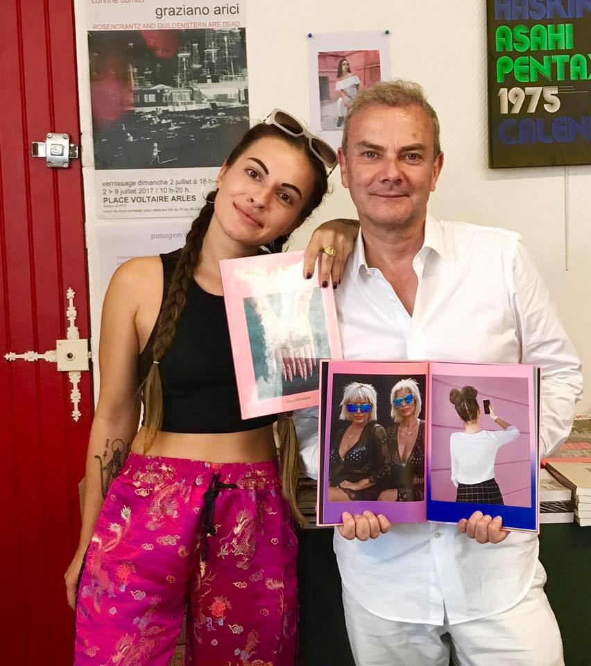 Magnificent mediterranean magenta moments, welcome to the post-communiste Albanian party at place Voltaire bookshop pop-up Store. You can buy the book and a festival edition c-print!