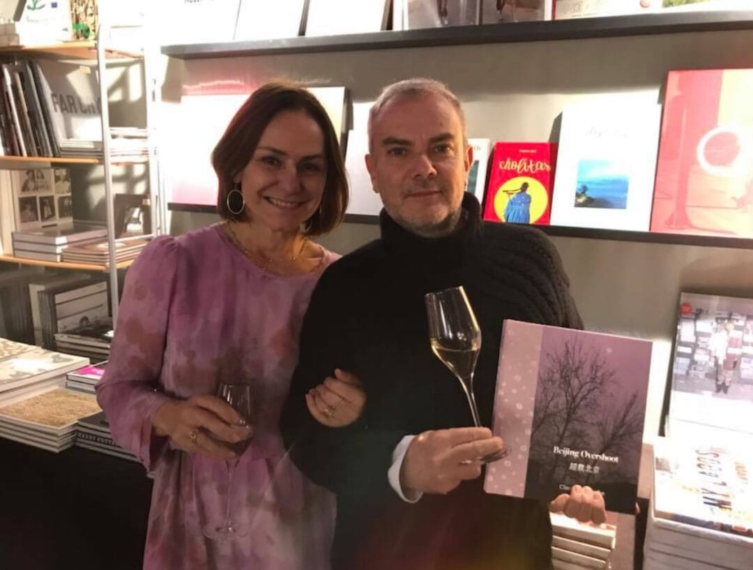 """Soirée Champagne Ruinart! With the amazing Claudia Jaguaribe, come see us at my book signing at Paris Photo """"BeijingOvershoot"""" Limited edition of 500 copies with a signed c print"""