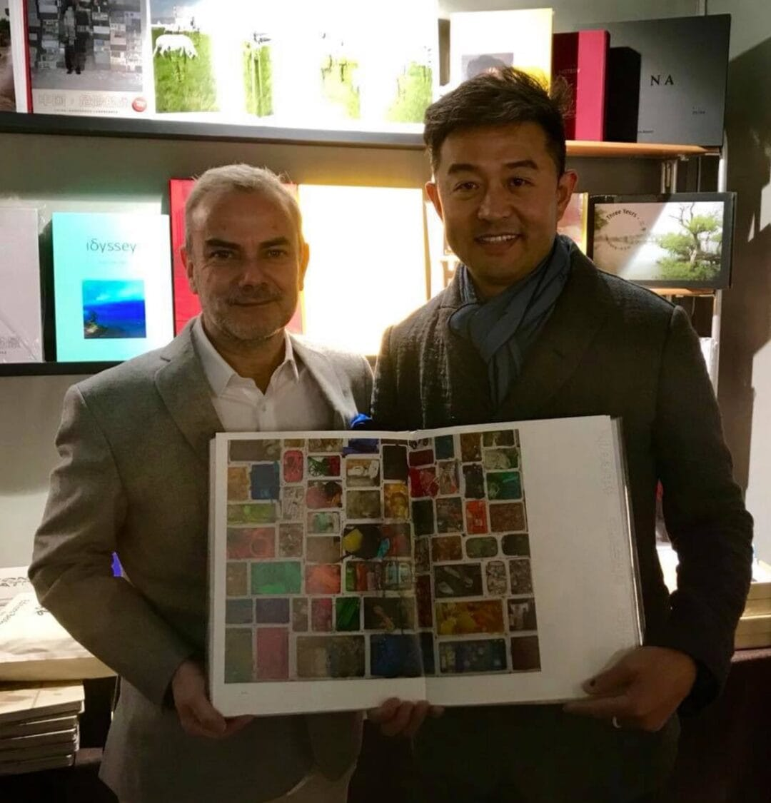 "It was at paris Photo, #LiuBolin visited me for signature of our las photobook ""China Dangerous Landscapes"" a #LimitedEdition of 800 copies with a #signed c print by the artist, only 75€ #ArtOfPerfection, #China #EditionsBessard"
