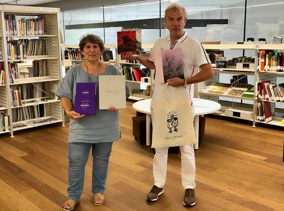 In mode Photobook, Gabriela Cendoya-Bergareche Collection at Museo San Telmo's library showing the Editions Bessard Collection.Pierre Bessard Claudia Jaguaribe Hester Lisa Scheurwater Qingsong Wang Zhipeng Lin