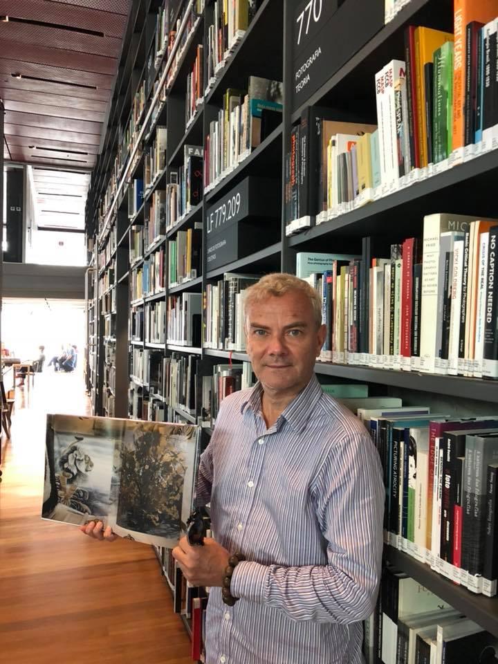 "São Paulo #happyPublisher, Biblioteca Instituto Moreira Salles, ""#BeijingOvershoot"" by #ClaudiaJaguaribe thanks to Edu Simões for the picture #EditionsBessard #ArtOfPerfection"