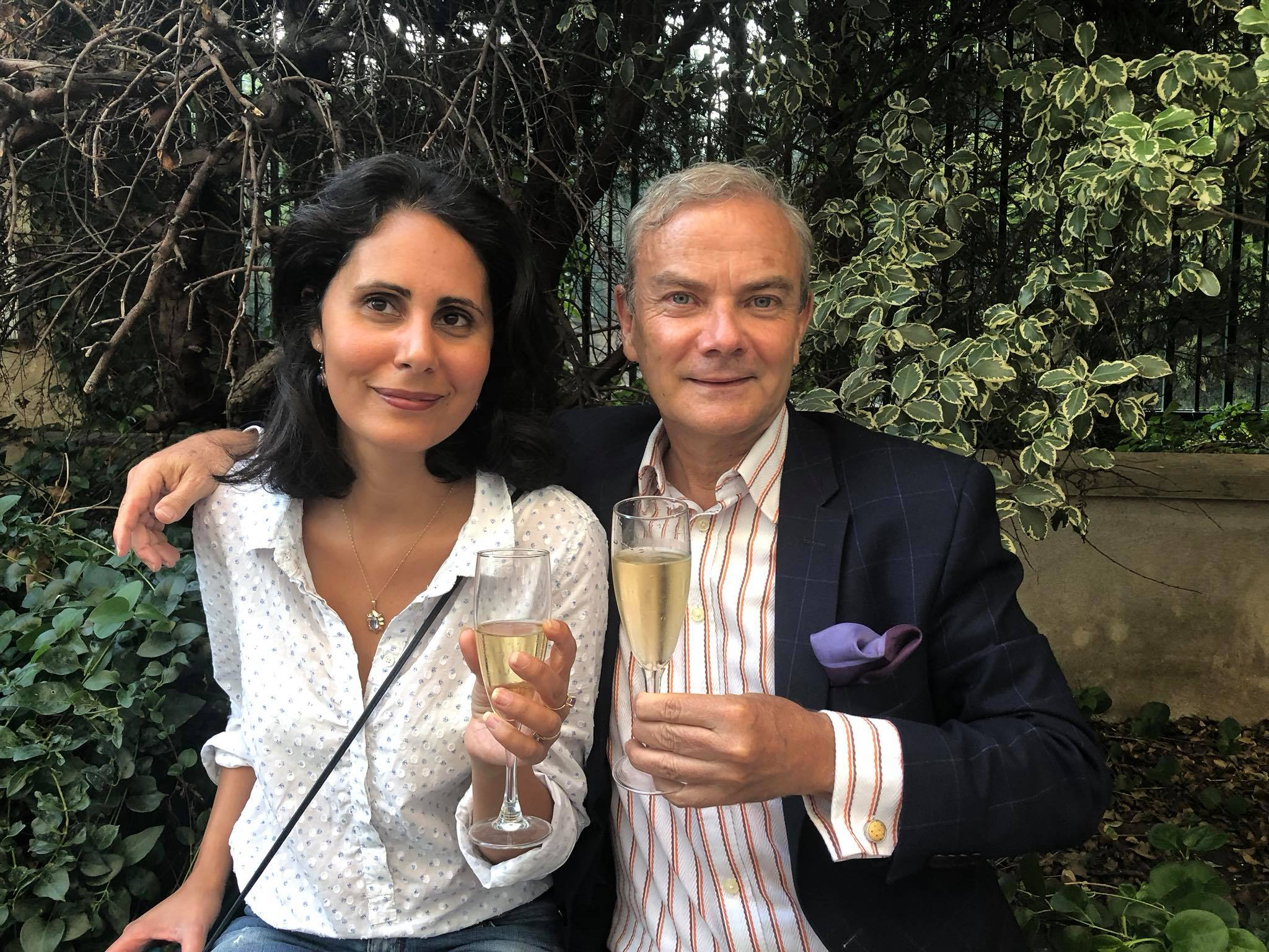 In mode Champagne, Paris with my sweet friend Donia Belhadj at the opening ceremony Agathe Gaillard gallery #HappyPublisher