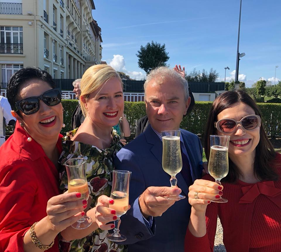 In mode Champagne, #HappyPublisher, together with dear friends I met in China, Deauville in September Pierre Bessard #NoFilter #NoRetouch