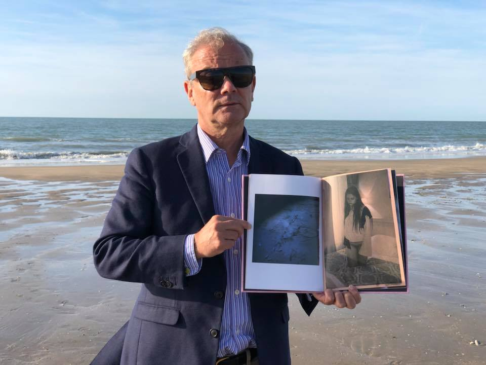 """Lara Gasparotto, """"Come dawn to us""""BeSpoke Collection N•12 take the sun on the Deauville beach. #BeSpokeCollection design by Cyrielle Mld #EditionsBessard #HappyPublisher #ArtOfPerfection Pierre Bessard – à Deauville – à la Plage."""