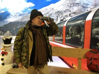 #St-Moritz, #Switzerland #HappyPublisher, stuck in the snow , waiting the train for tomorrow… culinary book project with the #3starsmichelin Guillaume Galliot Dr. Mike Roussell #EditionsBessard