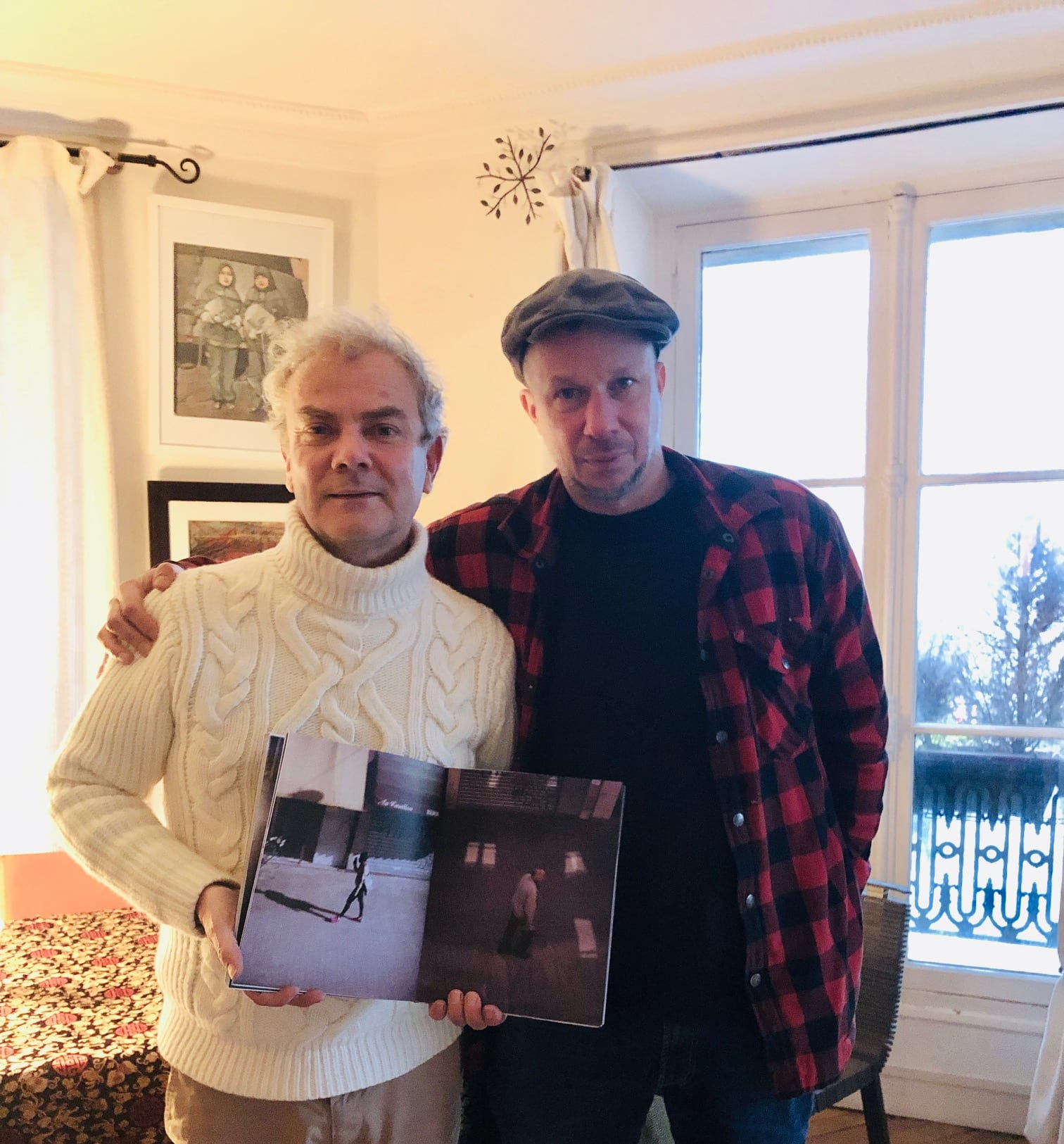 "#HappyPublisher, meeting at home this afternoon with the Swedish artist JH Engström, a photobook to come for 2019 ""Moving Inn-Looking Out"", a mixt of material: Polaroid Instant Fuji Film, 4×5 inch, 6×7…Limited edition of 500 copies!"